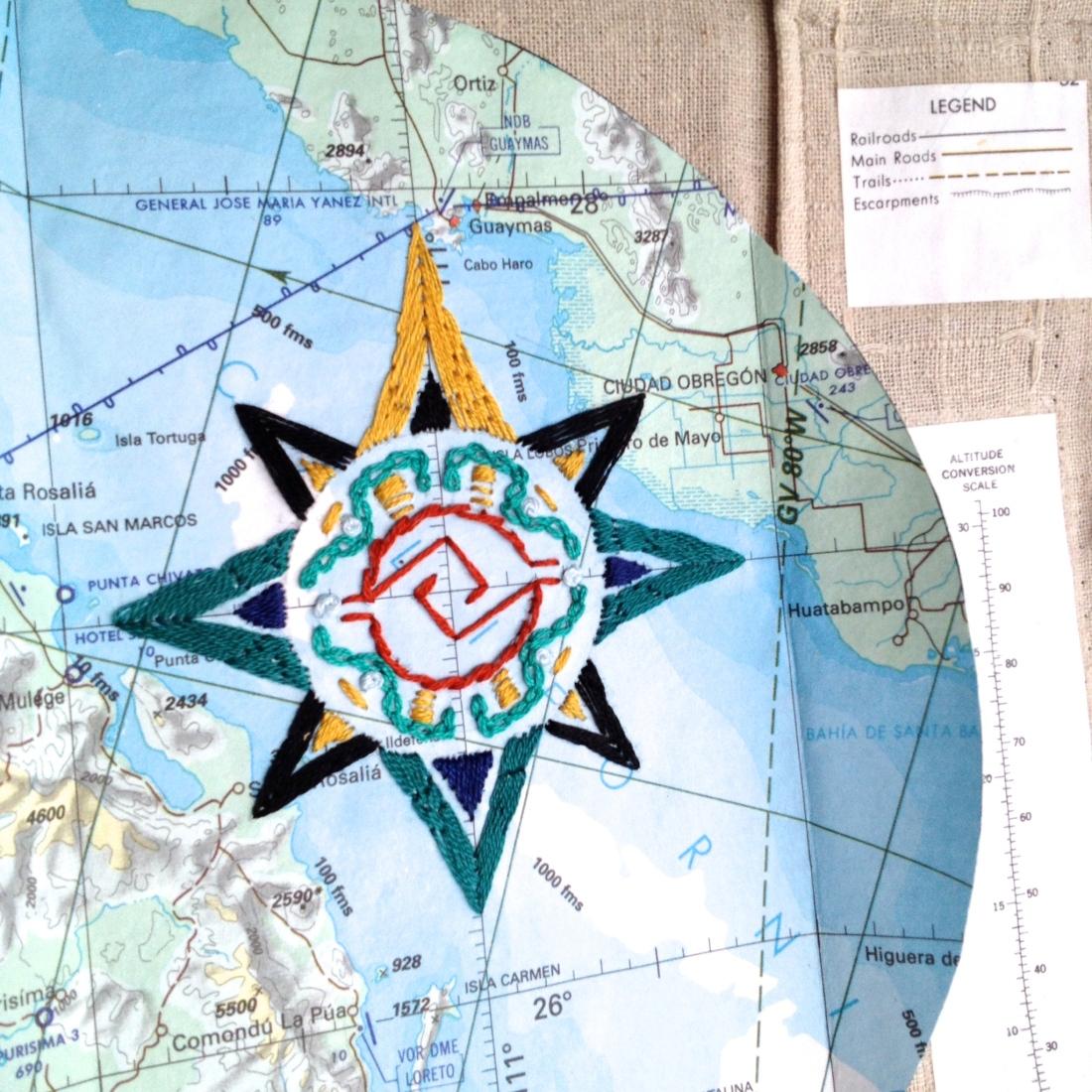 Aztec Compass Rose Art Book