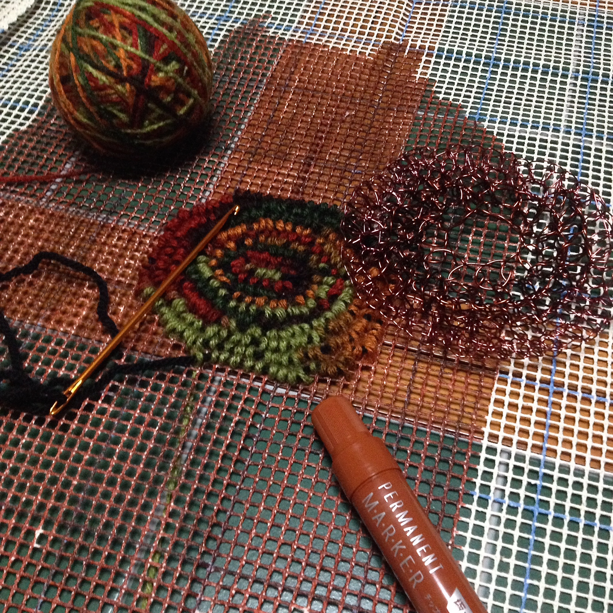 Fiber & Metals = Wire Crochet